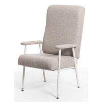 President High Back Chair Fabric Grey