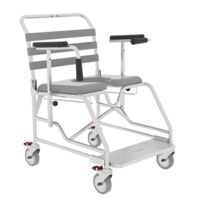 Aspire Transporter Commode Chair - 60cm Platform (Bariatric)