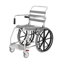 Aspire Transporter Commode Chair - 46cm Platform (Self Propelled) inclusive of seat