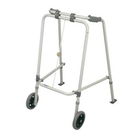 Walking Frame with Front wheels and rear skis